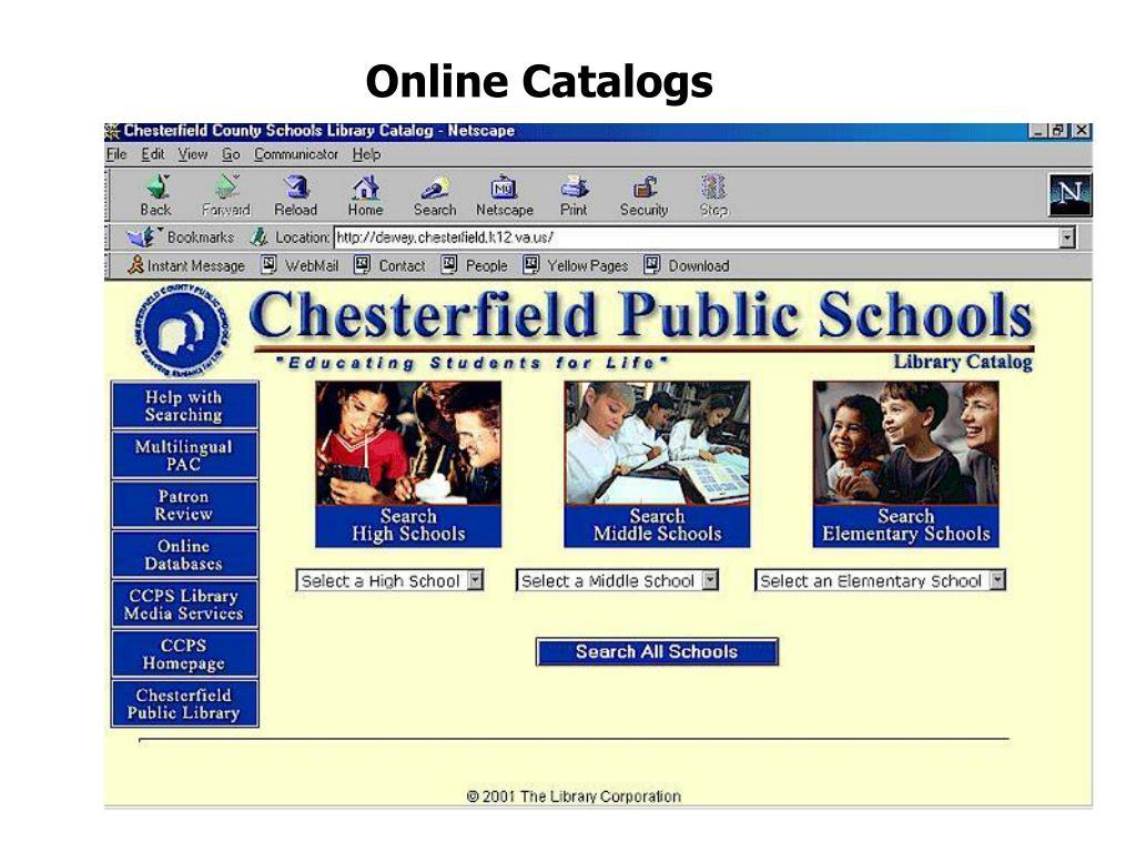 Online Catalogs