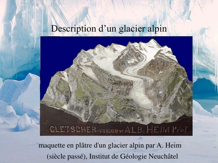 Description d'un glacier alpin