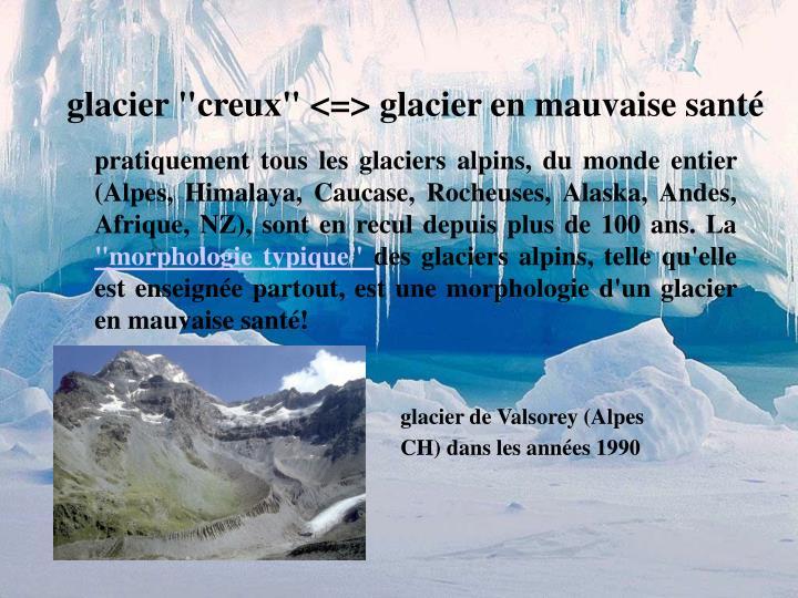 """glacier """"creux"""" <=> glacier en mauvaise santé"""