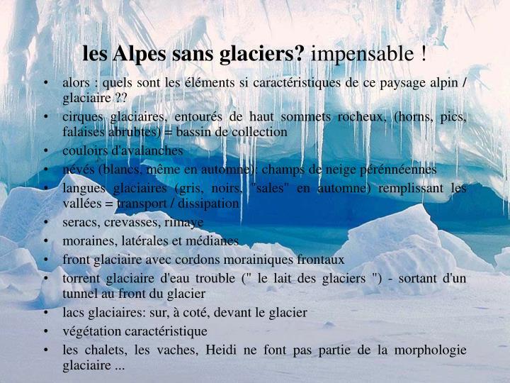 les Alpes sans glaciers?