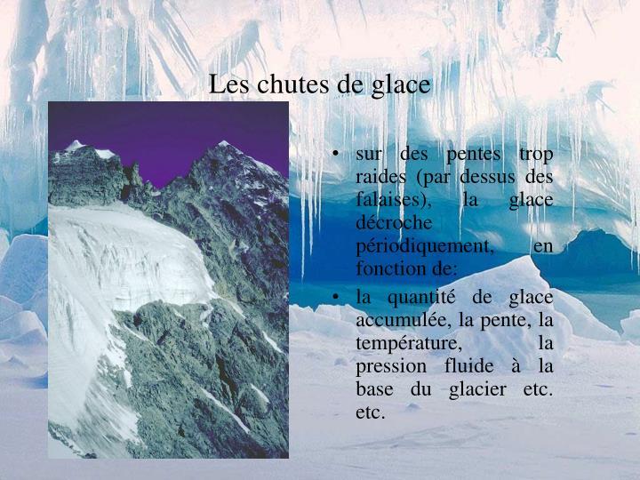 Les chutes de glace