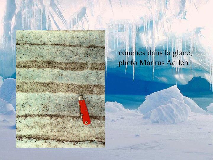 couches dans la glace; photo Markus Aellen
