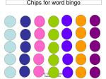 chips for word bingo