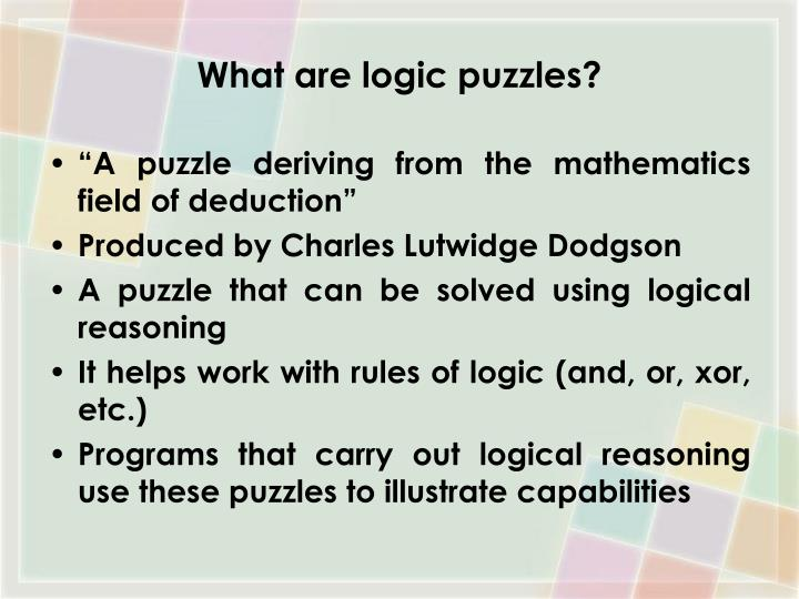 What are logic puzzles?