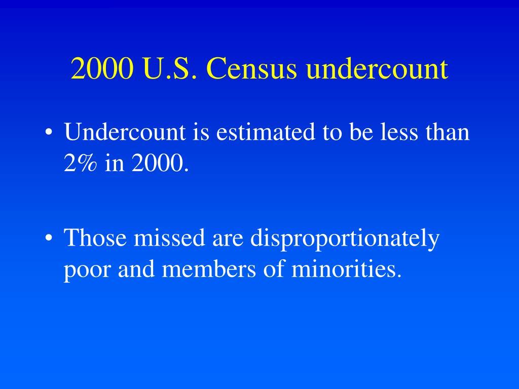 2000 U.S. Census undercount