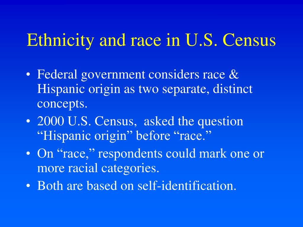 Ethnicity and race in U.S. Census