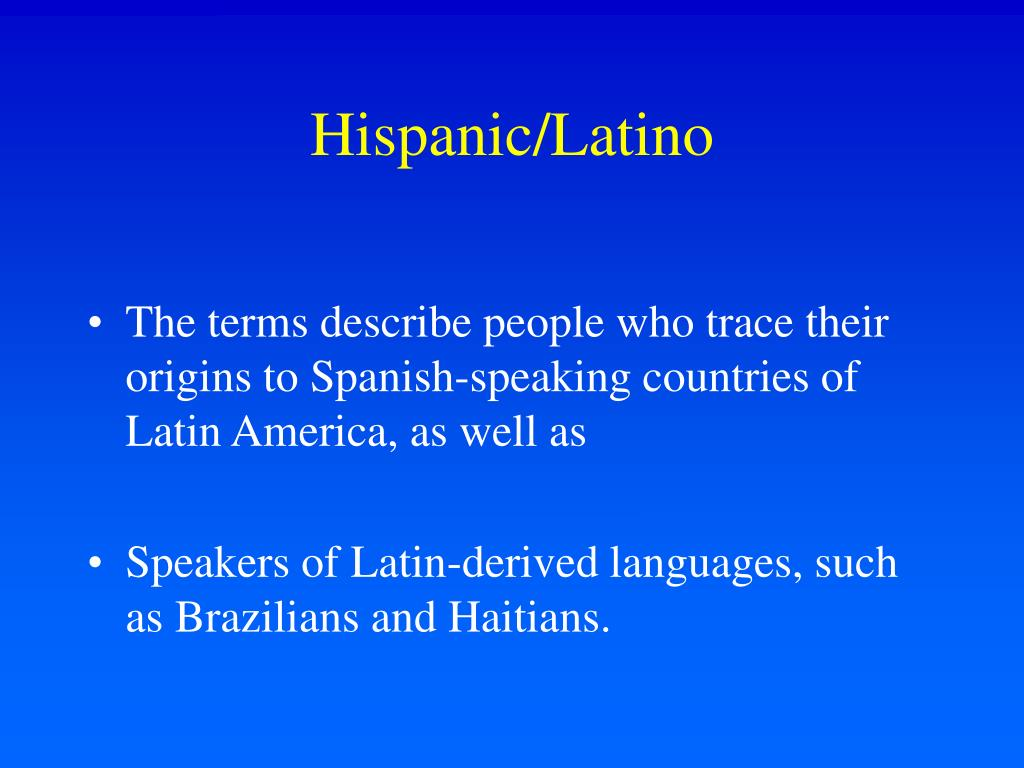 Hispanic/Latino
