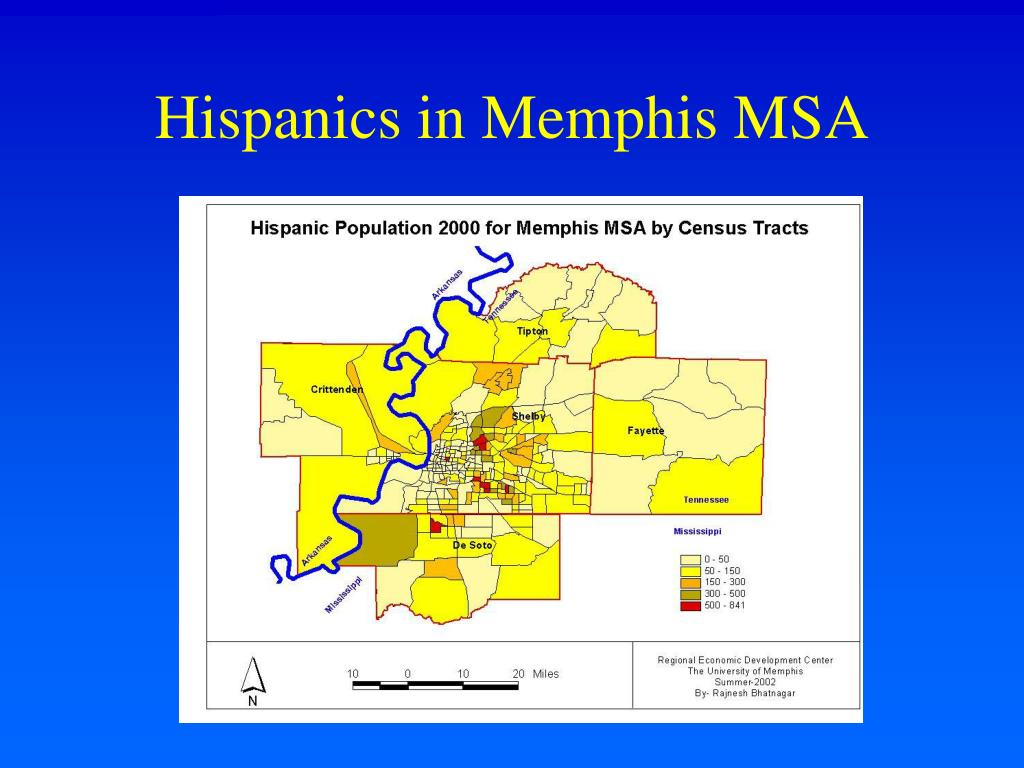 Hispanics in Memphis MSA
