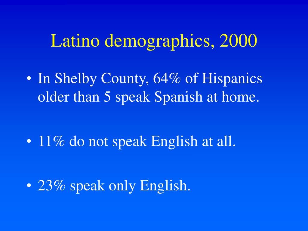 Latino demographics, 2000