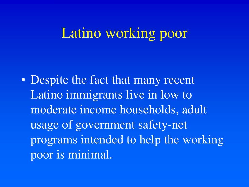 Latino working poor