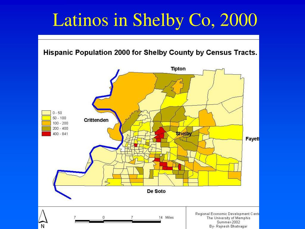 Latinos in Shelby Co, 2000