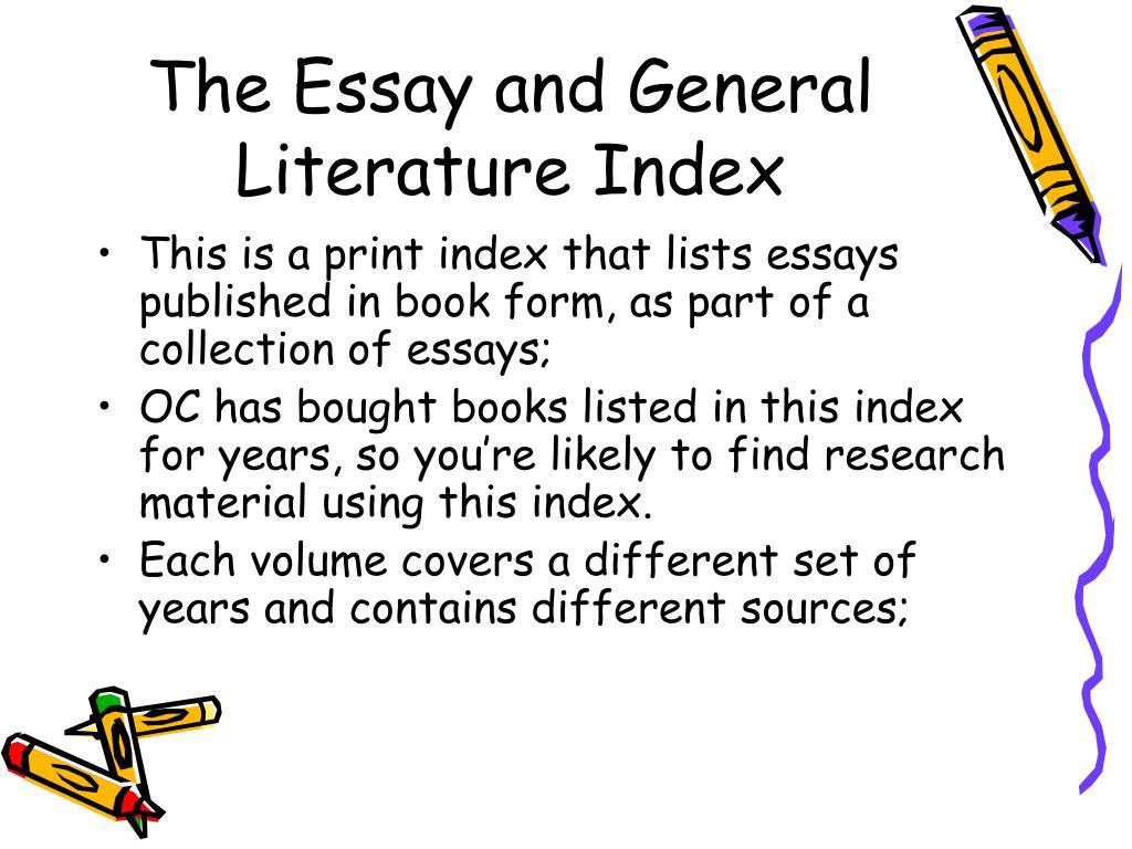 essay and general literature index Trail blazers of american art essay and general literature index reprint series trail blazers of american art essay and general literature , download and read trail.