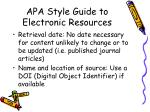 apa style guide to electronic resources