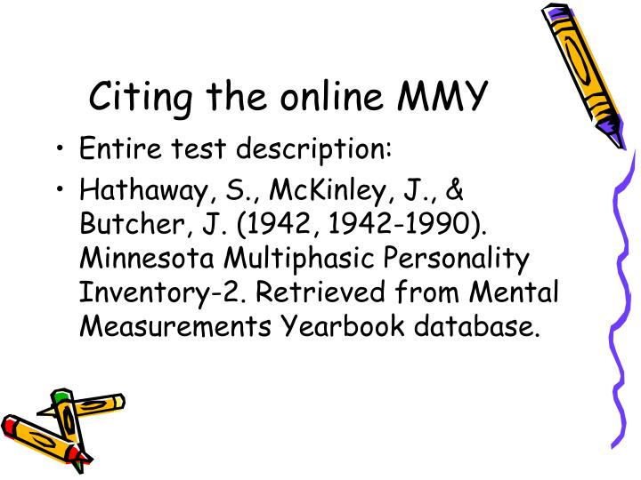 Citing the online MMY