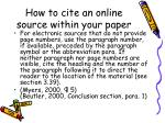 how to cite an online source within your paper1