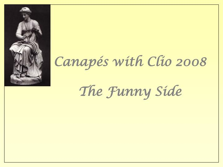 Canap s with clio 2008 the funny side l.jpg