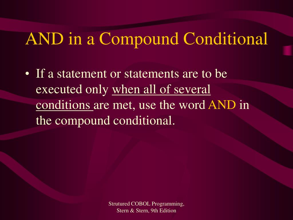 AND in a Compound Conditional