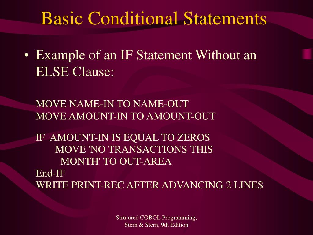 Basic Conditional Statements