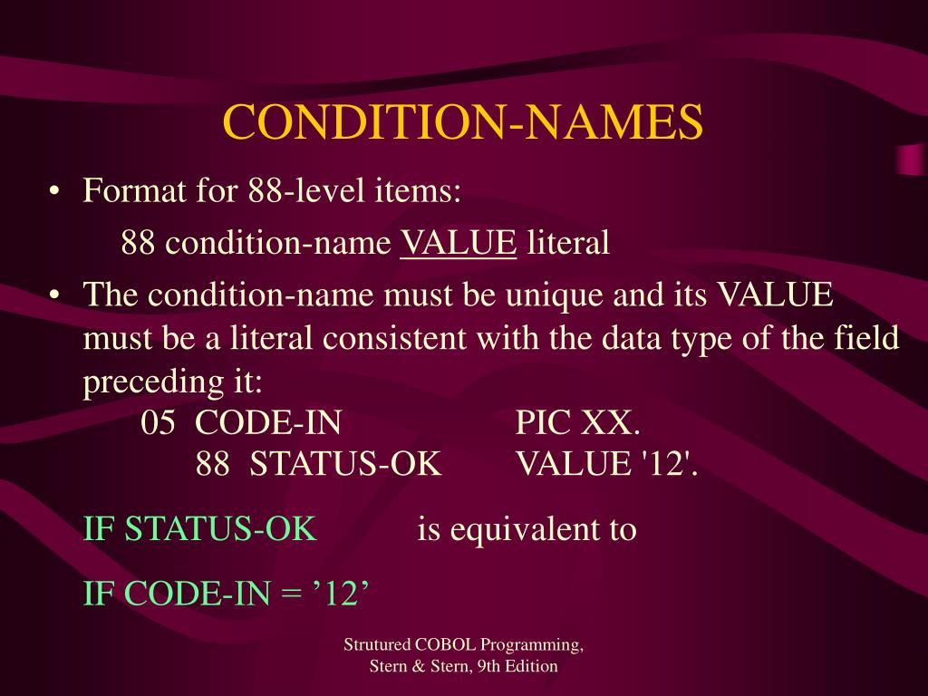 CONDITION-NAMES