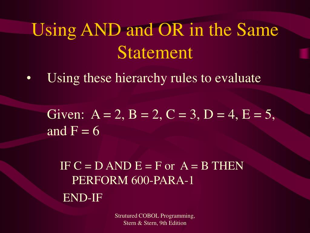 Using AND and OR in the Same Statement