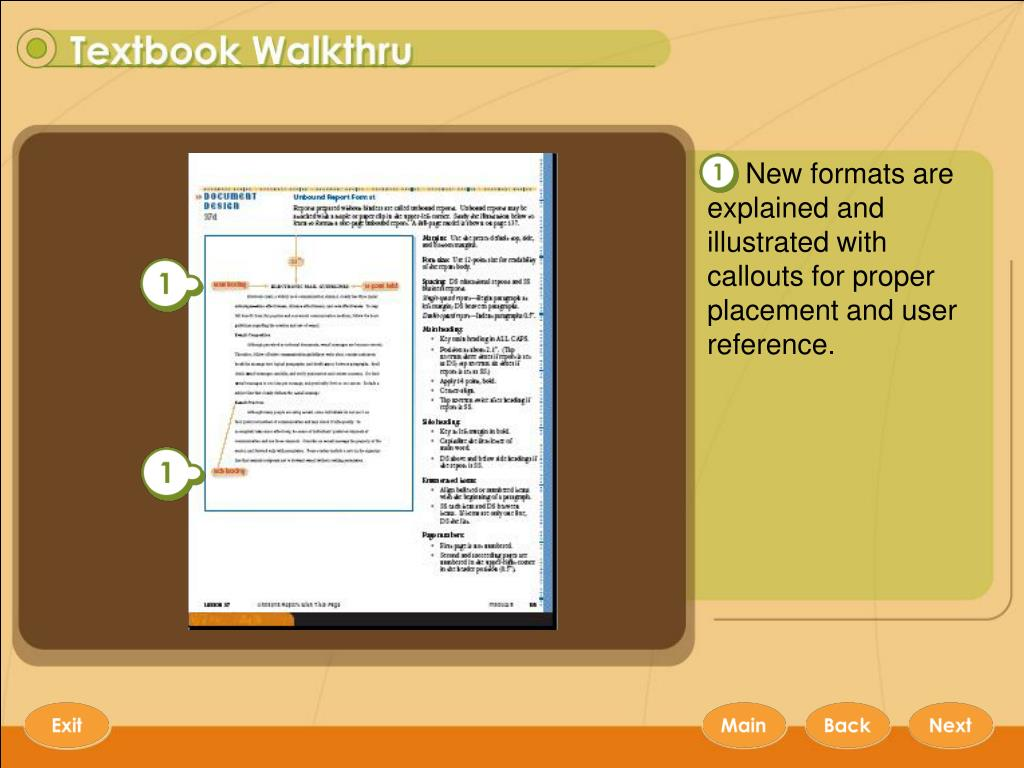 New formats are explained and illustrated with callouts for proper placement and user reference.