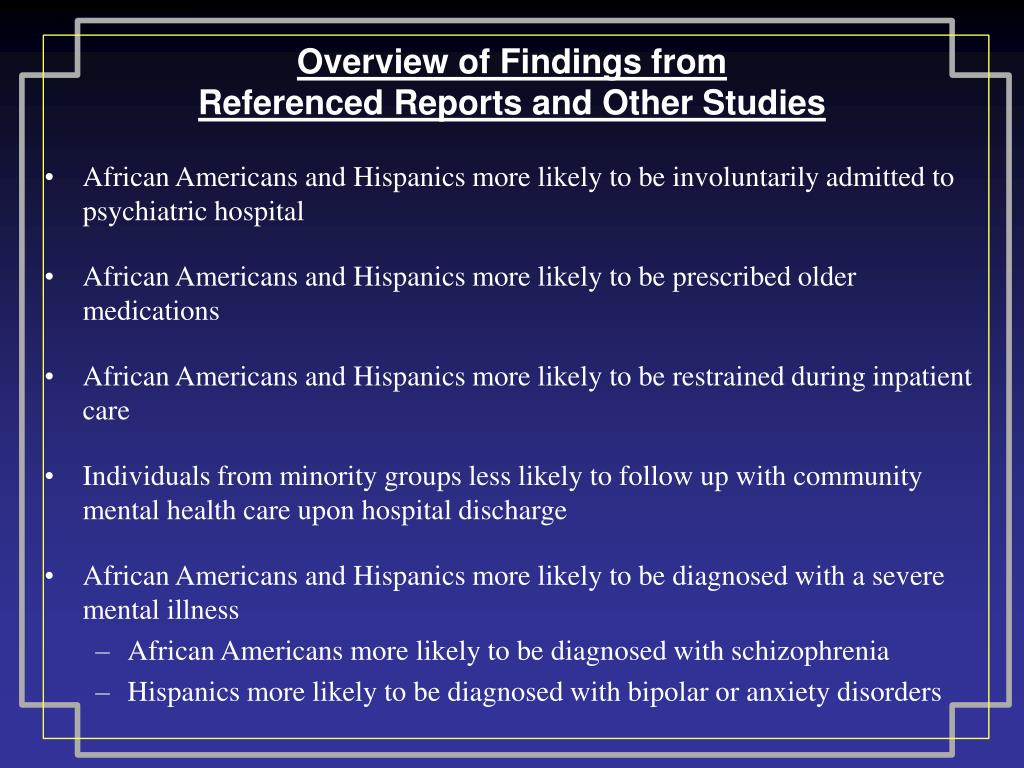 Overview of Findings from