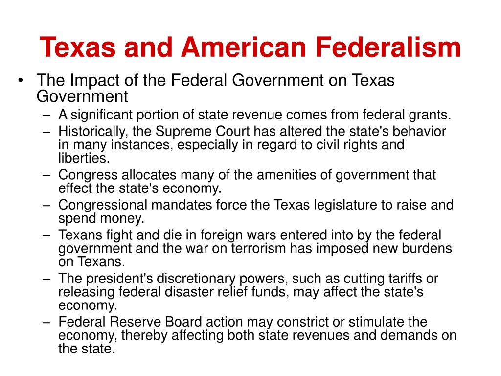 Texas and American Federalism