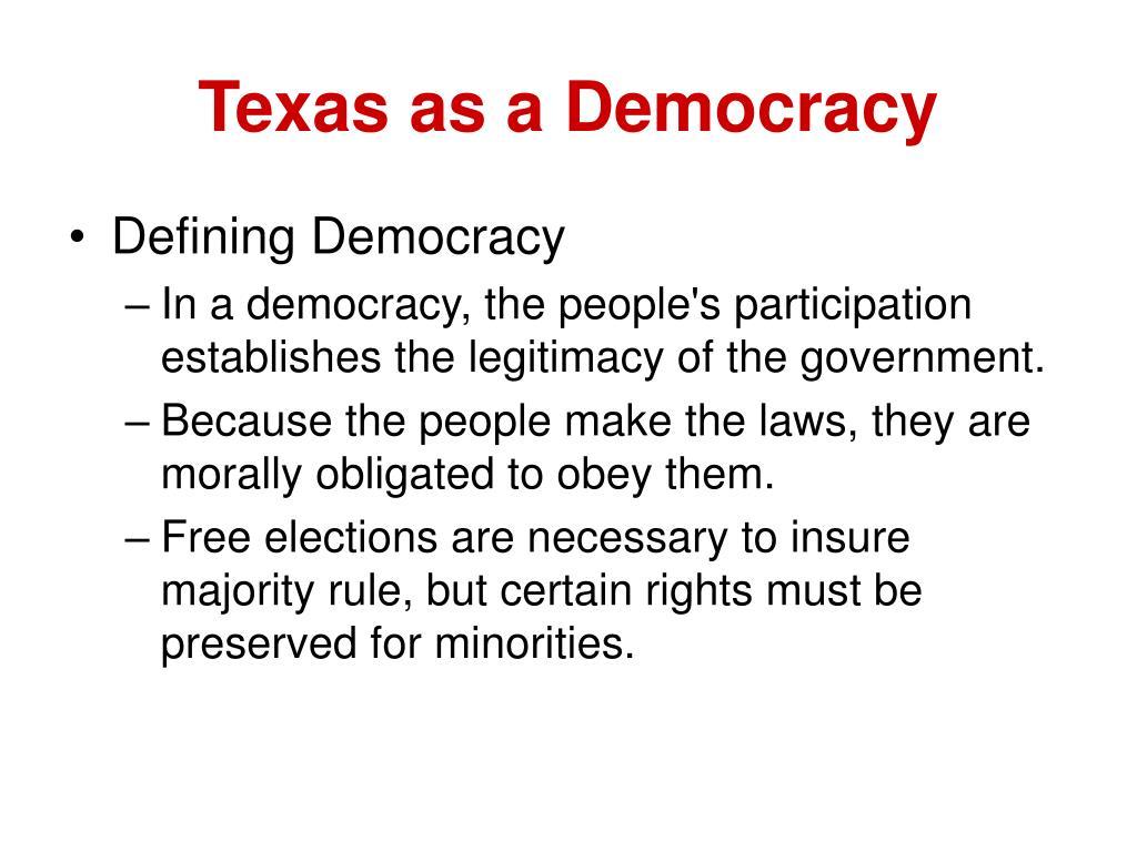 Texas as a Democracy
