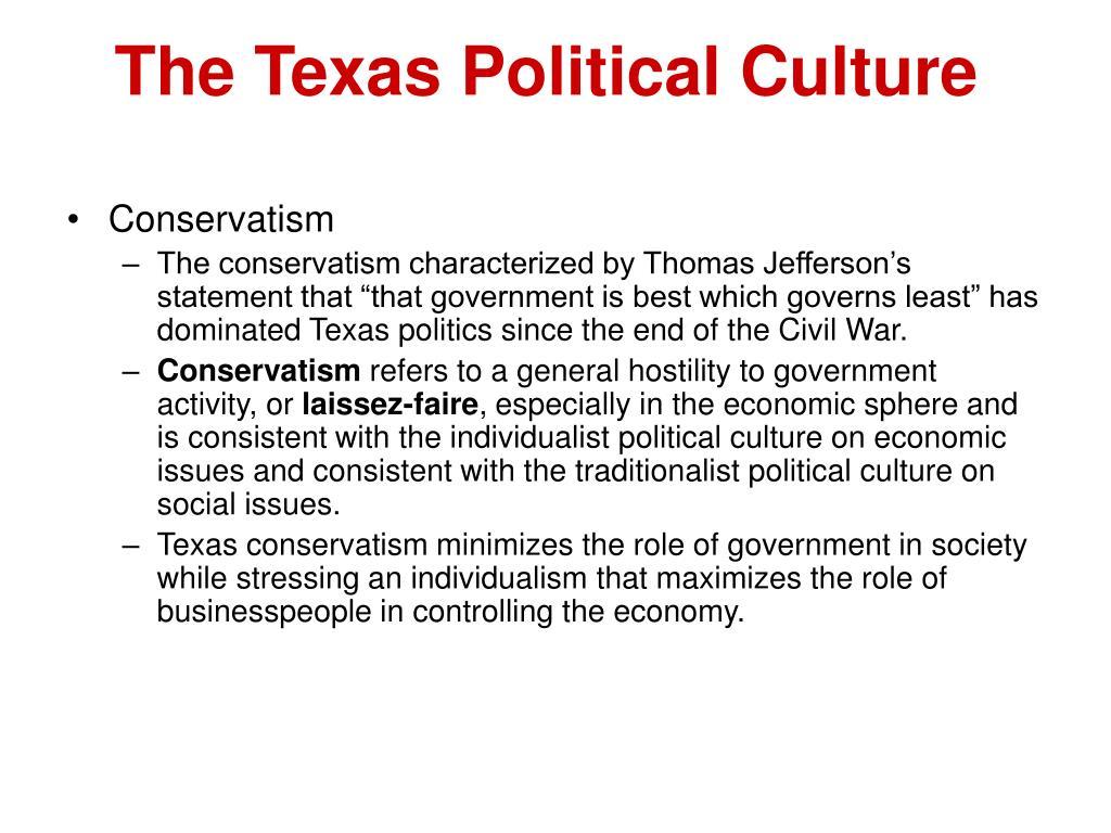 The Texas Political Culture