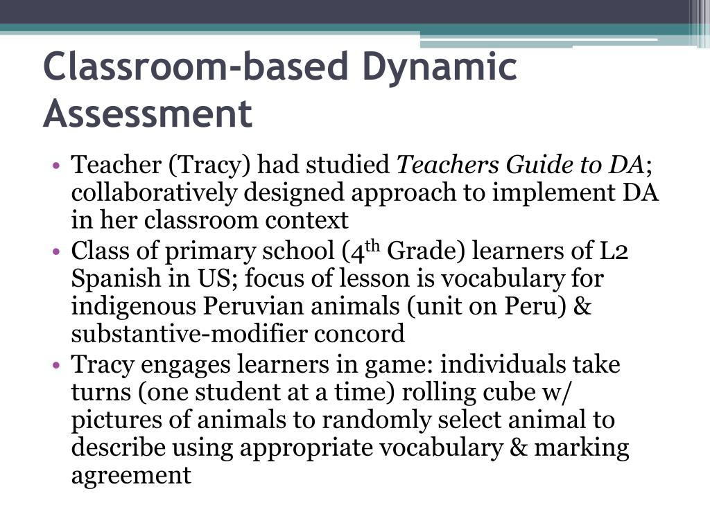 Classroom-based Dynamic Assessment