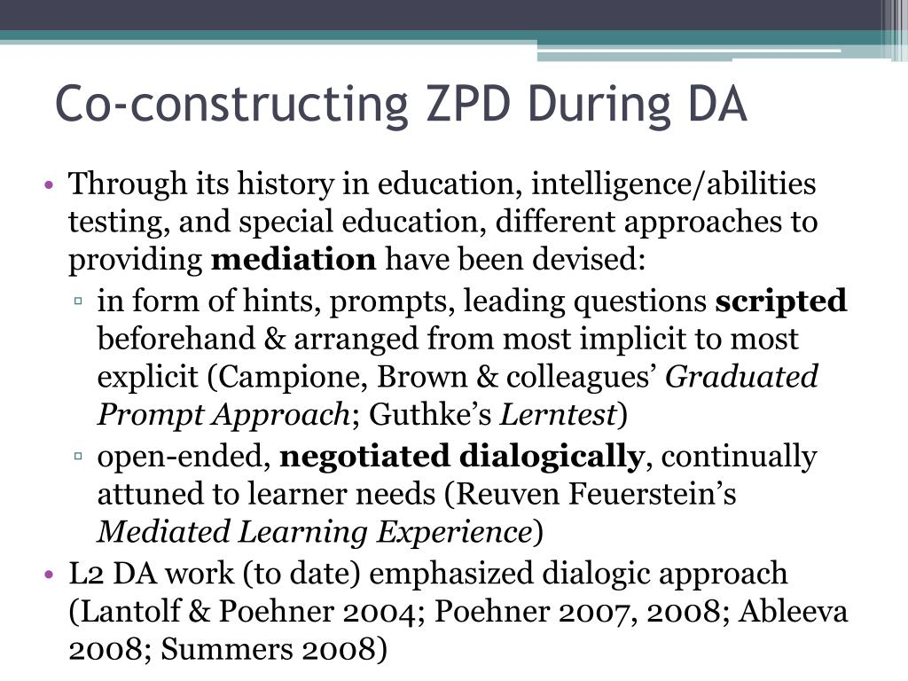 Co-constructing ZPD During DA