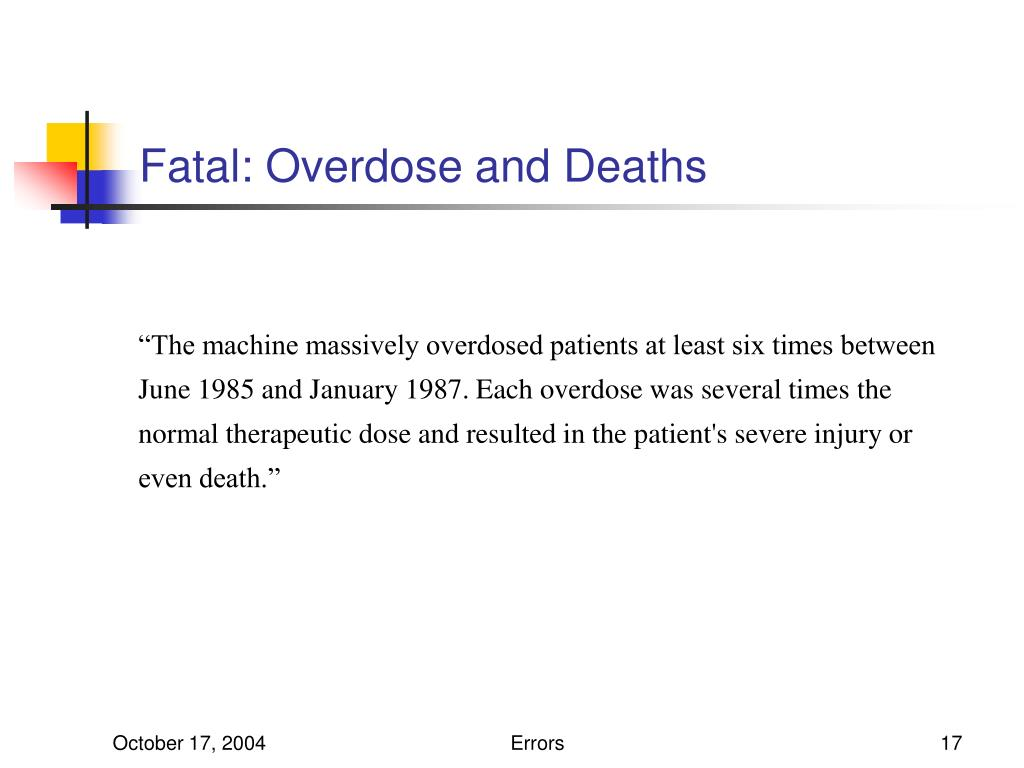 Fatal: Overdose and Deaths
