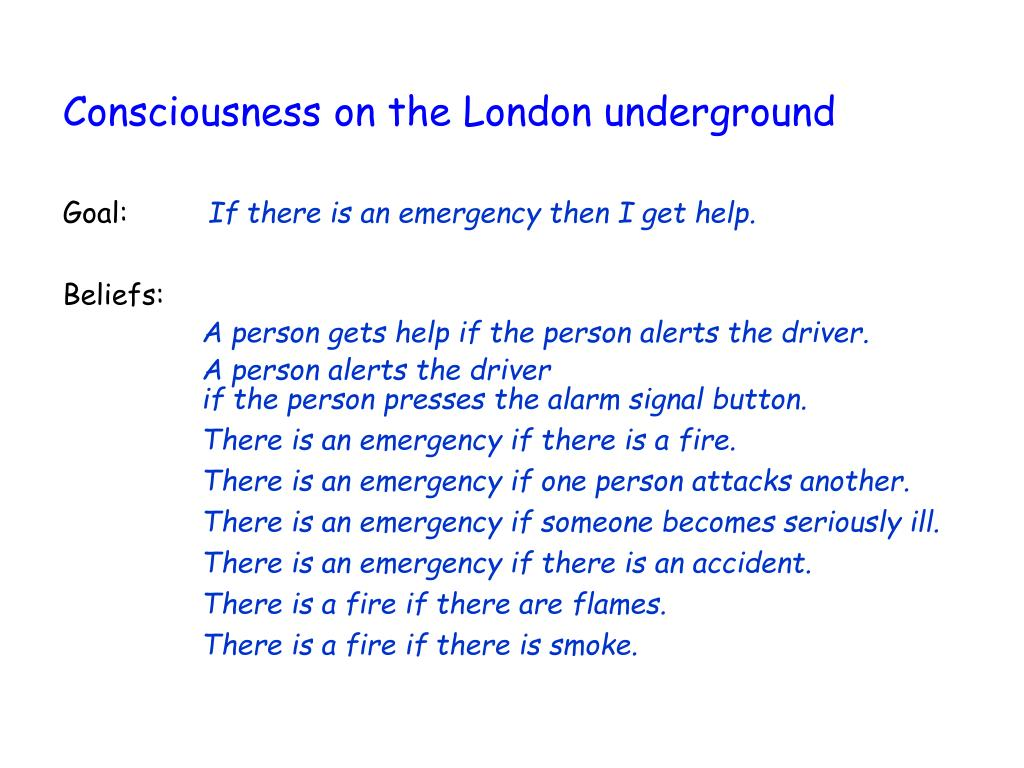 Consciousness on the London underground