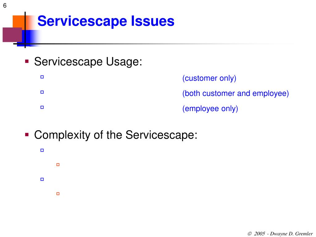 Servicescape Issues
