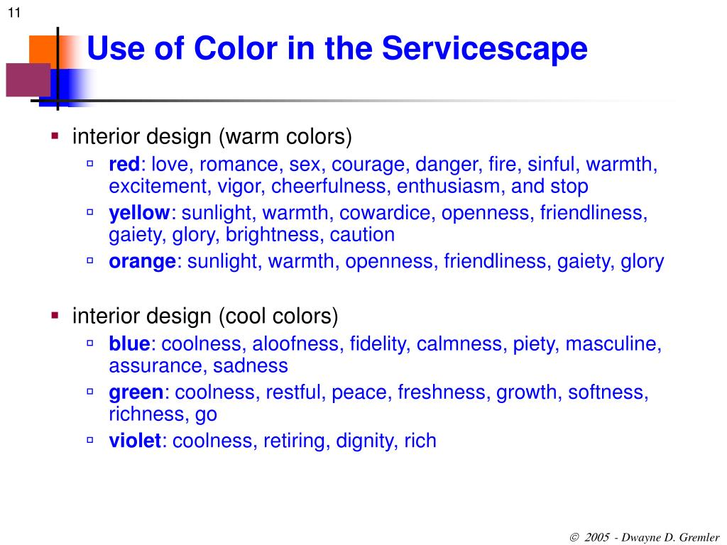 Use of Color in the Servicescape