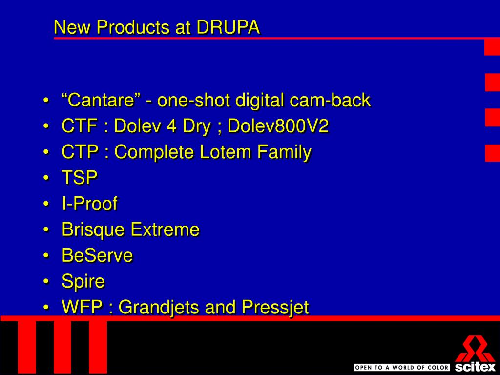 New Products at DRUPA