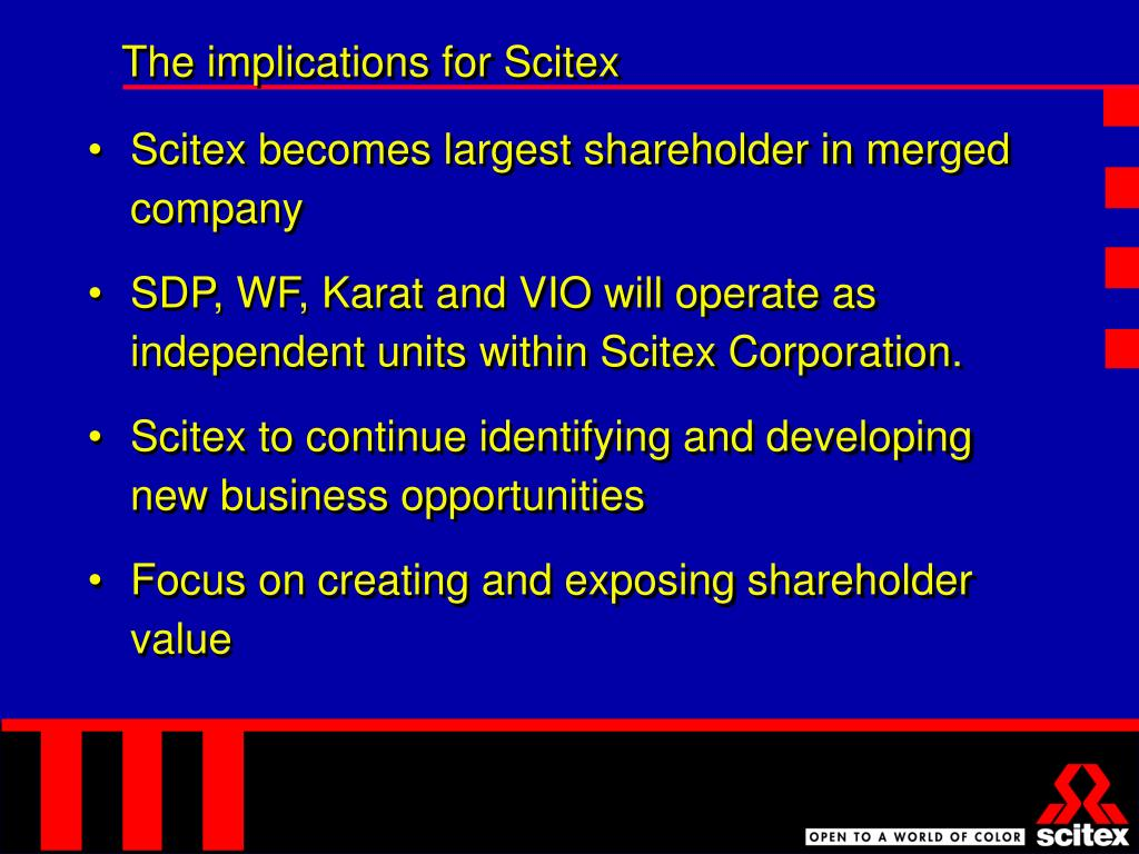 The implications for Scitex