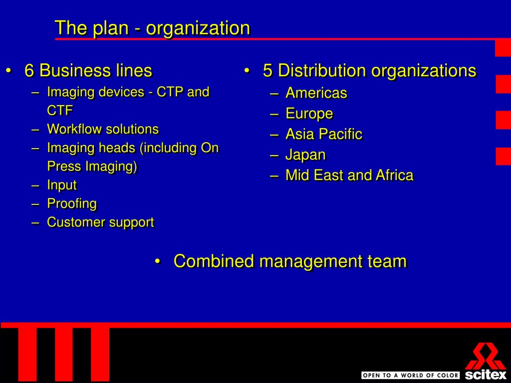 The plan - organization