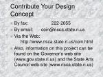 contribute your design concept