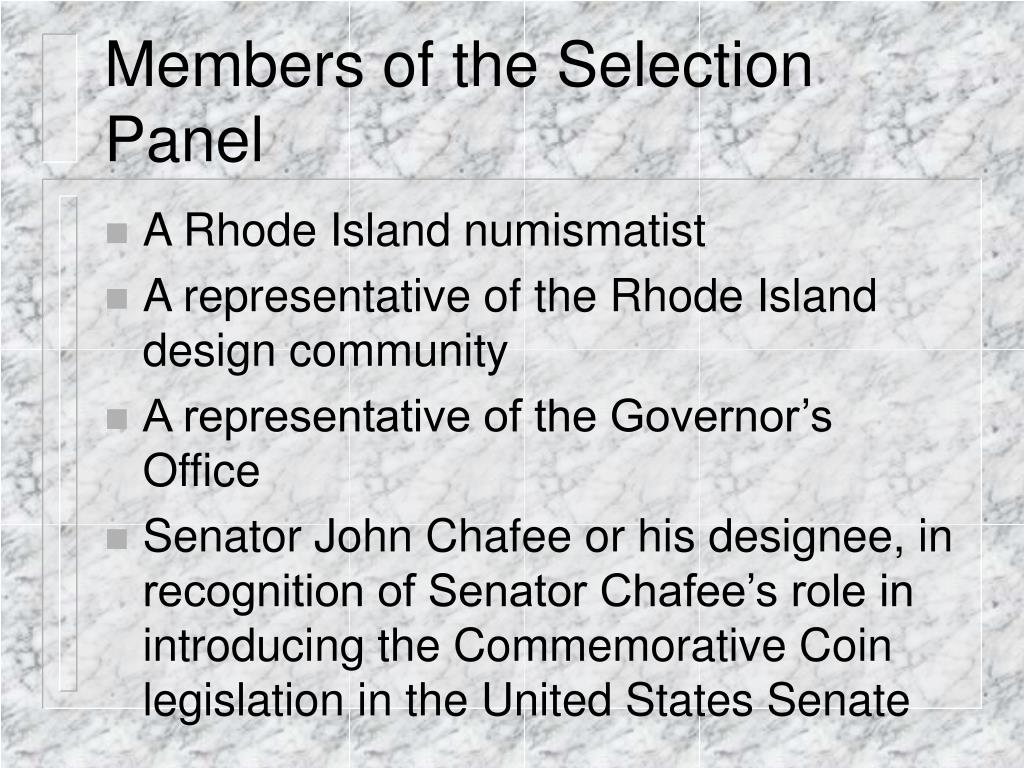 Members of the Selection Panel