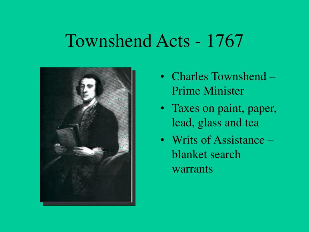 Townshend act repealed