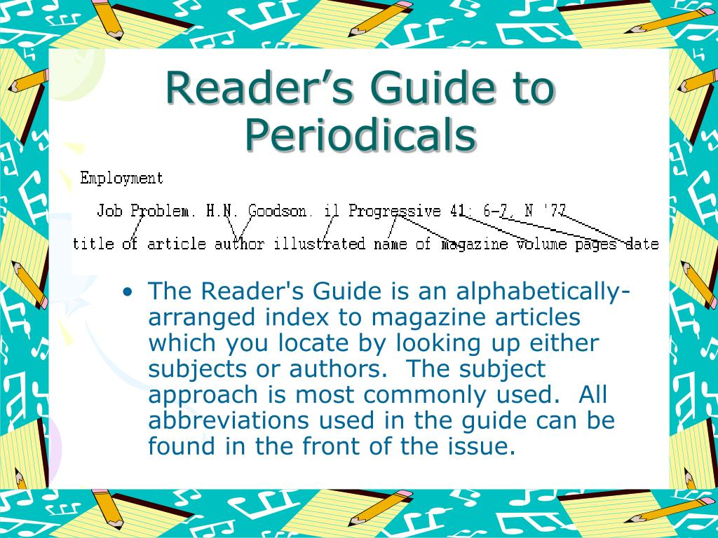 Reader's Guide to Periodicals