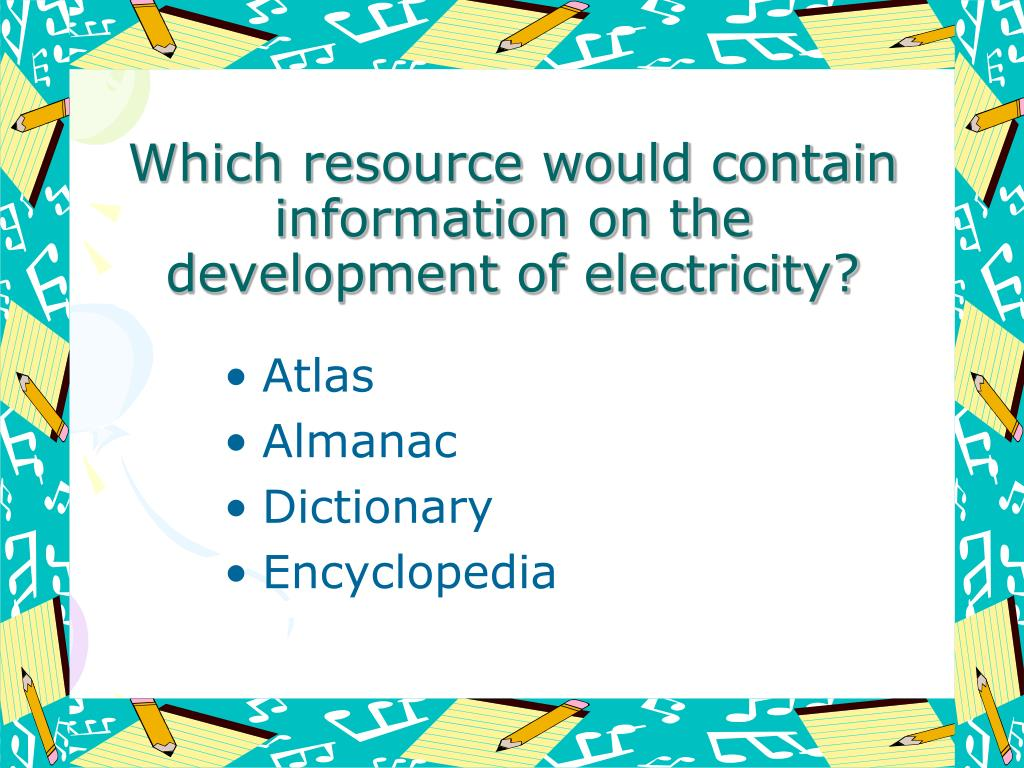 Which resource would contain information on the