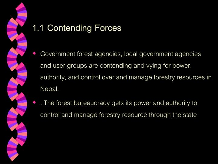 1.1 Contending Forces