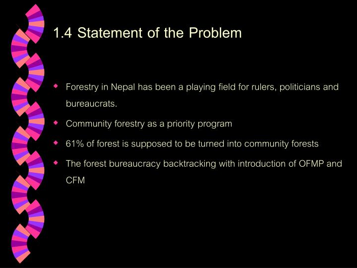 1.4 Statement of the Problem