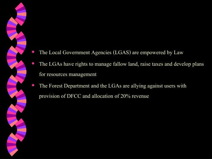 The Local Government Agencies