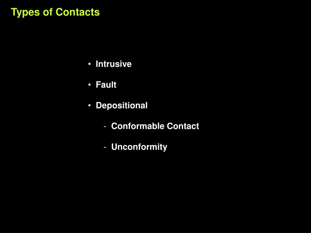Types of Contacts