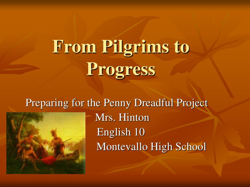 from pilgrims to progress