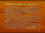 what is a captivity narrative8