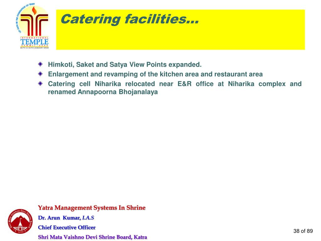 Catering facilities…